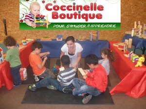 Animation coccinelle Boutique